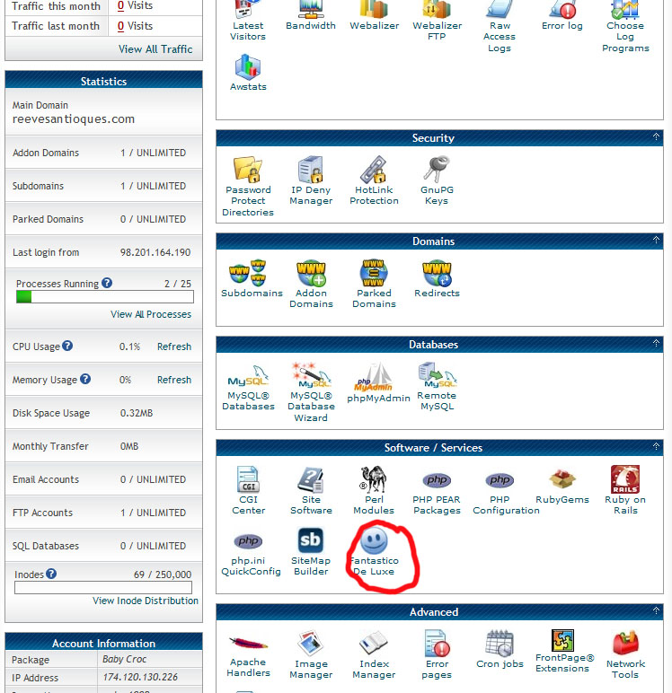 fantastico-scroll-down-cpanel
