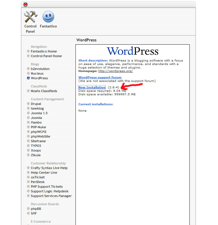 wordpress-new-installation-within-fantastico